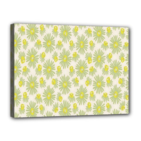 Another Supporting Tulip Flower Floral Yellow Gray Canvas 16  X 12  by Jojostore