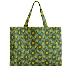 Another Supporting Tulip Flower Floral Yellow Gray Green Zipper Mini Tote Bag by Jojostore