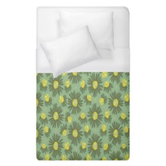 Another Supporting Tulip Flower Floral Yellow Gray Green Duvet Cover (single Size) by Jojostore