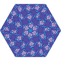Analogous Blue Flower Mini Folding Umbrellas by Jojostore