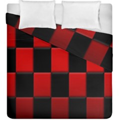 Board Red Black Duvet Cover Double Side (king Size) by Jojostore
