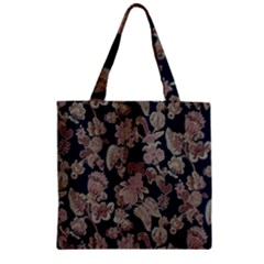 Fabrics Floral Zipper Grocery Tote Bag by Jojostore
