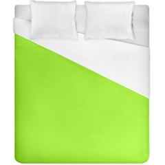 Green Color Duvet Cover (california King Size) by Jojostore