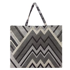Geometric Home Decor Fabric Zipper Large Tote Bag by Jojostore
