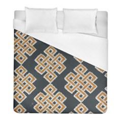 Geometric Cut Velvet Drapery Upholstery Fabric Duvet Cover (full/ Double Size) by Jojostore