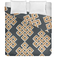 Geometric Cut Velvet Drapery Upholstery Fabric Duvet Cover Double Side (california King Size) by Jojostore