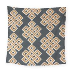 Geometric Cut Velvet Drapery Upholstery Fabric Square Tapestry (large) by Jojostore
