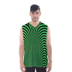 Green Optical Illusion Men s Basketball Tank Top by Jojostore