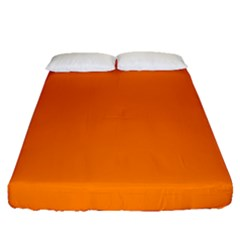 Orange Color Fitted Sheet (queen Size) by Jojostore