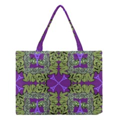 Paris Eiffel Tower Green Purple Medium Tote Bag by Jojostore