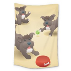 Puppy Dog Large Tapestry by Jojostore