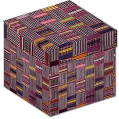 Strip Woven Cloth Color Storage Stool 12   by Jojostore