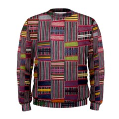 Strip Woven Cloth Color Men s Sweatshirt by Jojostore