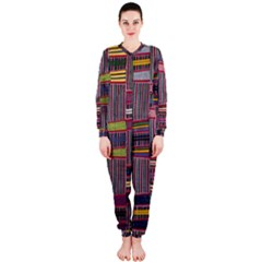 Strip Woven Cloth Color Onepiece Jumpsuit (ladies)  by Jojostore