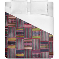 Strip Woven Cloth Color Duvet Cover (california King Size) by Jojostore
