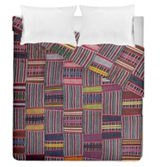 Strip Woven Cloth Color Duvet Cover Double Side (Queen Size) by Jojostore