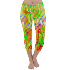 Cheerful Phantasmagoric Pattern Capri Winter Leggings  by Amaryn4rt