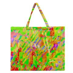 Cheerful Phantasmagoric Pattern Zipper Large Tote Bag by Amaryn4rt