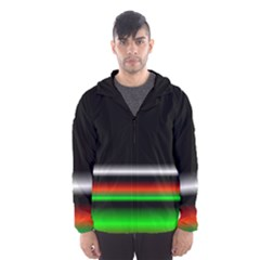 Colorful Neon Background Images Hooded Wind Breaker (men) by Amaryn4rt