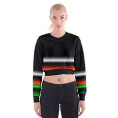 Colorful Neon Background Images Women s Cropped Sweatshirt by Amaryn4rt