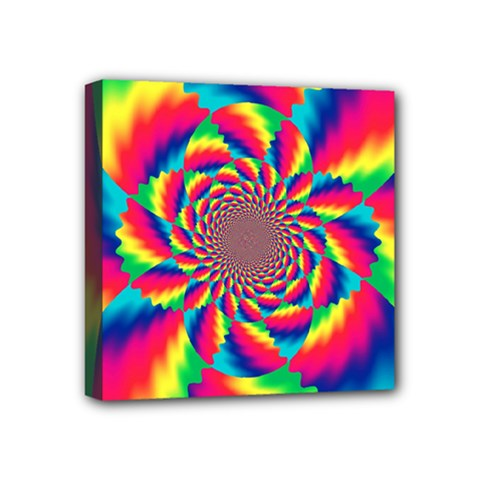 Colorful Psychedelic Art Background Mini Canvas 4  x 4  by Amaryn4rt