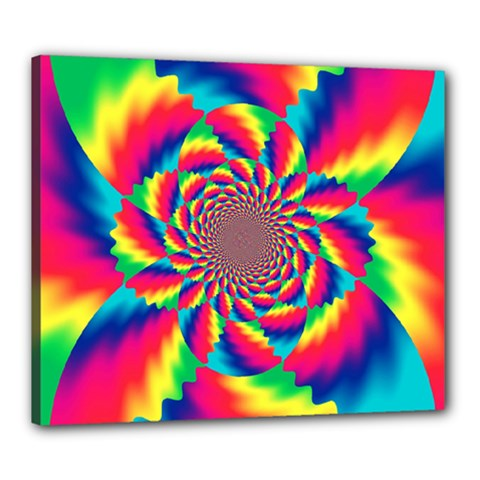 Colorful Psychedelic Art Background Canvas 24  X 20  by Amaryn4rt