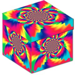 Colorful Psychedelic Art Background Storage Stool 12   by Amaryn4rt