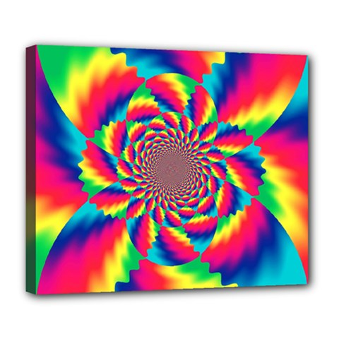 Colorful Psychedelic Art Background Deluxe Canvas 24  X 20   by Amaryn4rt