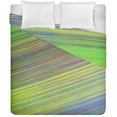 Diagonal Lines Abstract Duvet Cover Double Side (california King Size) by Amaryn4rt