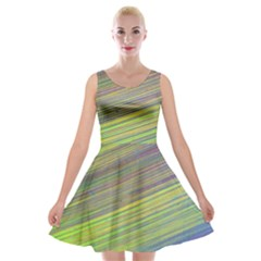 Diagonal Lines Abstract Velvet Skater Dress by Amaryn4rt