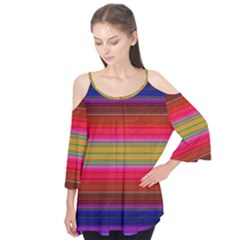 Fiesta Stripe Colorful Neon Background Flutter Tees