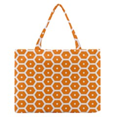 Golden Be Hive Pattern Medium Zipper Tote Bag by Amaryn4rt