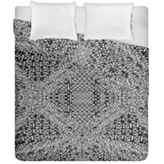 Gray Psychedelic Background Duvet Cover Double Side (california King Size) by Amaryn4rt