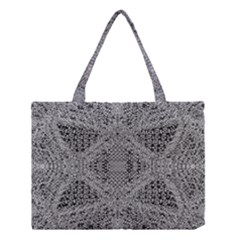 Gray Psychedelic Background Medium Tote Bag by Amaryn4rt
