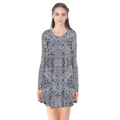 Gray Psychedelic Background Flare Dress