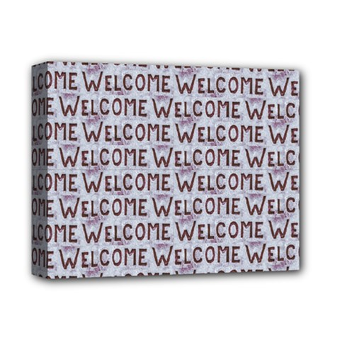 Welcome Letters Pattern Deluxe Canvas 14  X 11