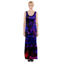 Grunge Abstract Maxi Thigh Split Dress by Amaryn4rt