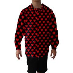 Love Pattern Hearts Background Hooded Wind Breaker (kids) by Amaryn4rt