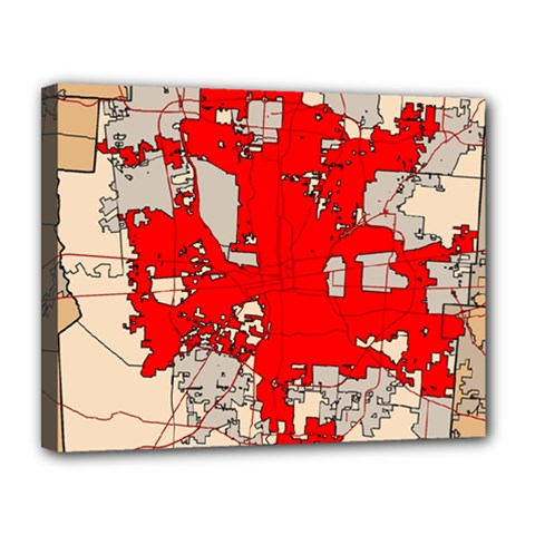 Map Of Franklin County Ohio Highlighting Columbus Canvas 14  X 11