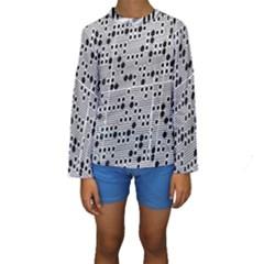 Metal Background Round Holes Kids  Long Sleeve Swimwear by Amaryn4rt
