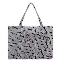 Metal Background Round Holes Medium Tote Bag by Amaryn4rt