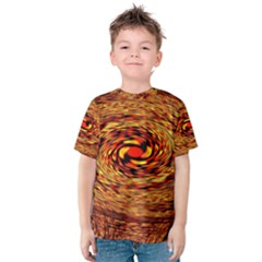 Orange Seamless Psychedelic Pattern Kids  Cotton Tee