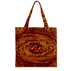 Orange Seamless Psychedelic Pattern Grocery Tote Bag by Amaryn4rt