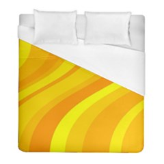 Orange Yellow Background Duvet Cover (full/ Double Size) by Amaryn4rt