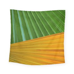 Pattern Colorful Palm Leaves Square Tapestry (small) by Amaryn4rt