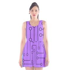 Peripherals Scoop Neck Skater Dress