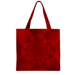 Psychedelic Art Red  Hi Tech Grocery Tote Bag by Amaryn4rt