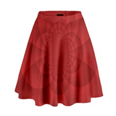 Psychedelic Art Red  Hi Tech High Waist Skirt by Amaryn4rt
