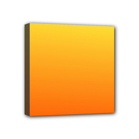 Rainbow Yellow Orange Background Mini Canvas 4  X 4  by Amaryn4rt