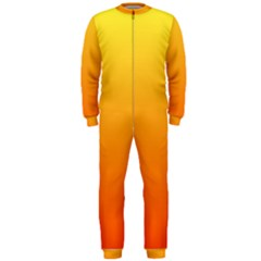 Rainbow Yellow Orange Background Onepiece Jumpsuit (men)